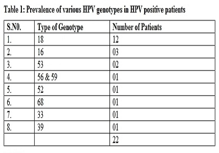 Significance of Human Papilloma Virus genotyping in cervical cancer screening